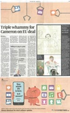 David Hockney, Early Drawings: Sunday Times, News