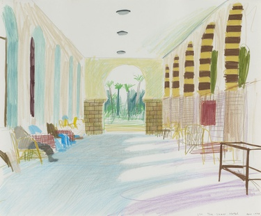 The Luxor Hotel, 1978, © David Hockney  PRIVATE COLLECTION